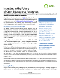 Investing in the future of OER Case Study