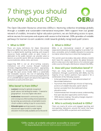 7 Things you should know about OERu