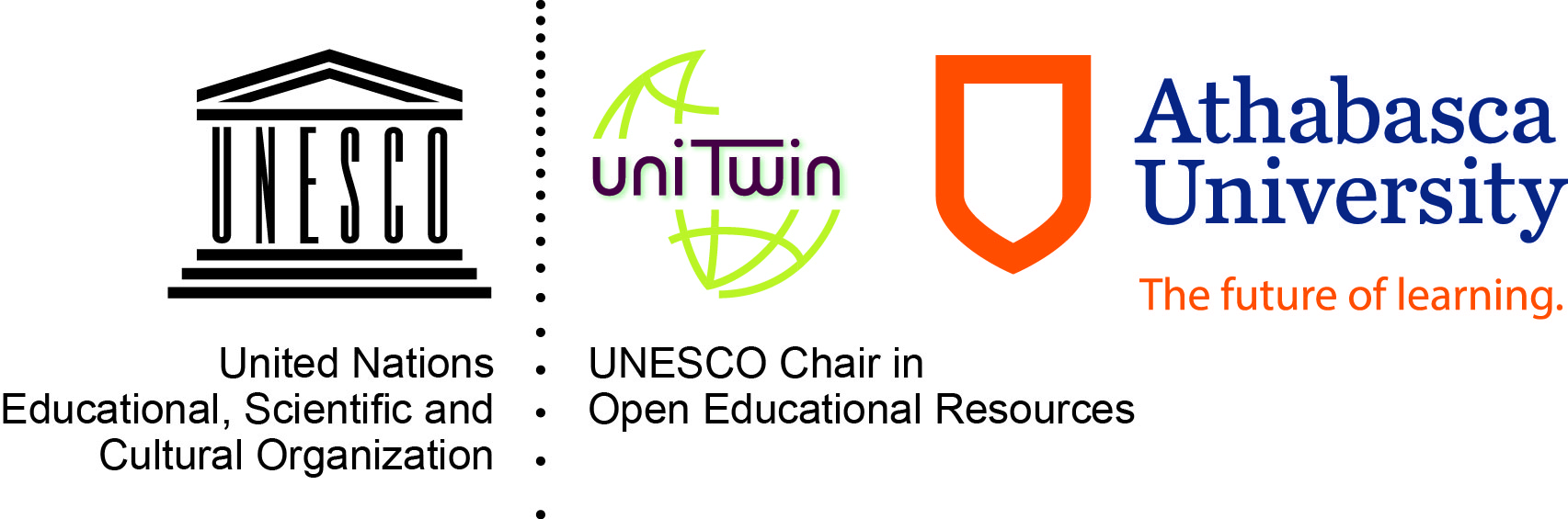 UNESCO-COL Chair in OER, Athabasca University Logo